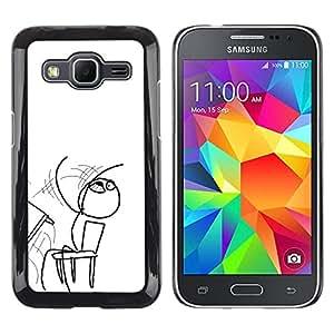 Caucho caso de Shell duro de la cubierta de accesorios de protección BY RAYDREAMMM - Samsung Galaxy Core Prime - Tablas volvieron
