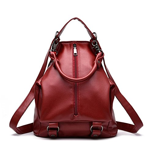 Ryse Womens Fashionable Classic Simple Exquisite Zipper Backpack Students - Mall Tyler In