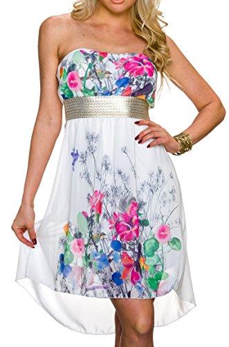 Vokuhila Kleid Partykleid Blumen Sommerkleid Abendkleid ...