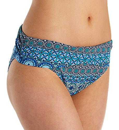 - Bleu Rod Beattie Women's Beach Please Banded Hipster Bikini Bottom Navy 14
