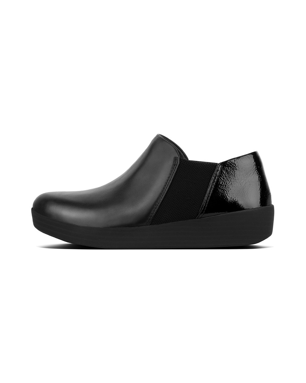 Fitflop Superchelsea Slip-Ons Shoes 36 EU Negro (Black/Black Patent)