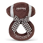 Bearington Baby Touchdown Plush Football Boy's Rattle 5.5