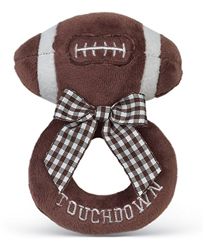 Bearington Baby Touchdown Plush Football Boy's Rattle (Football Rattle)
