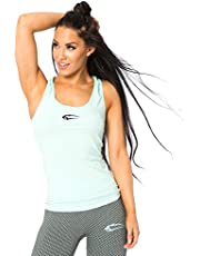 SMILODOX Sport Tank Top Damen | Seamless - Trainingsshirt ideal für Gym Fitness & Workout | Ärmelloses Sport T-Shirt - Bequemer Schnitt - Sporttop - Unterhemd
