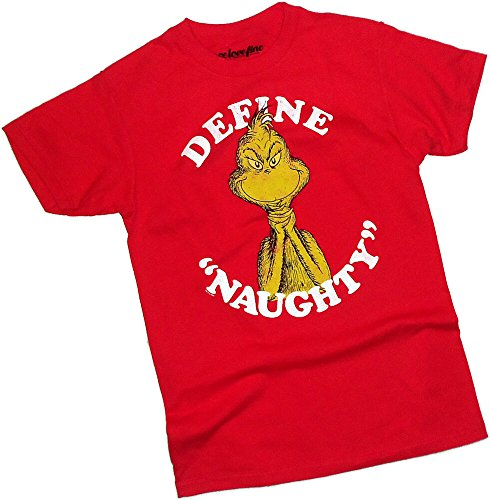 Dr. Seuss Define Naughty - How The Grinch Stole Christmas! T-Shirt, XX-Large