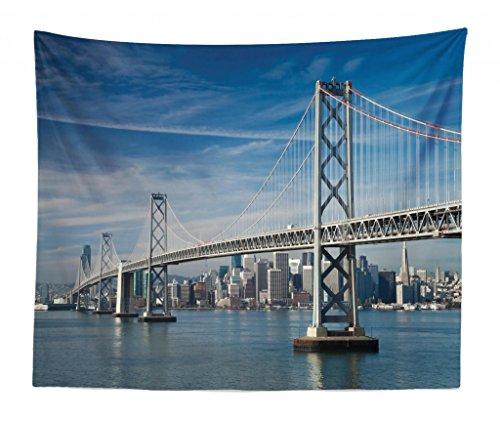 Lunarable City Tapestry King Size, San Francisco Bay
