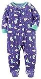 Carter's Girls' 1-Piece Footed Sleeper Fleece