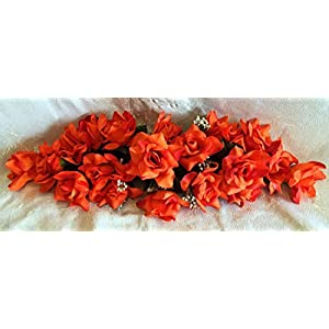 Rose Swags MANY COLORS Silk Wedding Flowers Chuppah Arch Gazebo Centerpiece 3