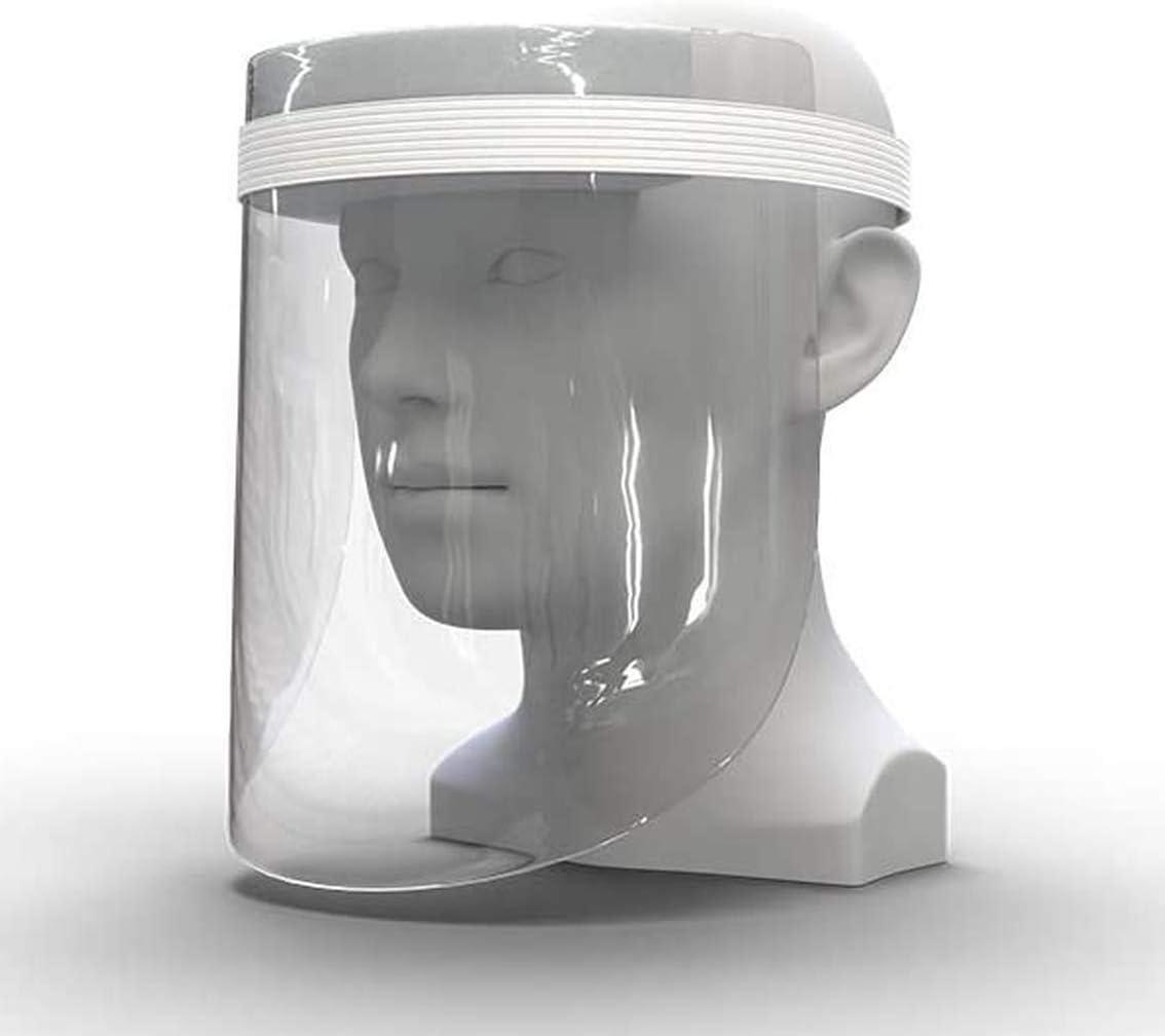 Kinder Gesichtsvisier Transparent Schutzvisier Colorful Kunststoff Gesichtsschutzschild Kunststoff Visier Gesichtsschutz Spritzschutz Mund Nase Auge Anti Saliva Blau, 1 St/ück