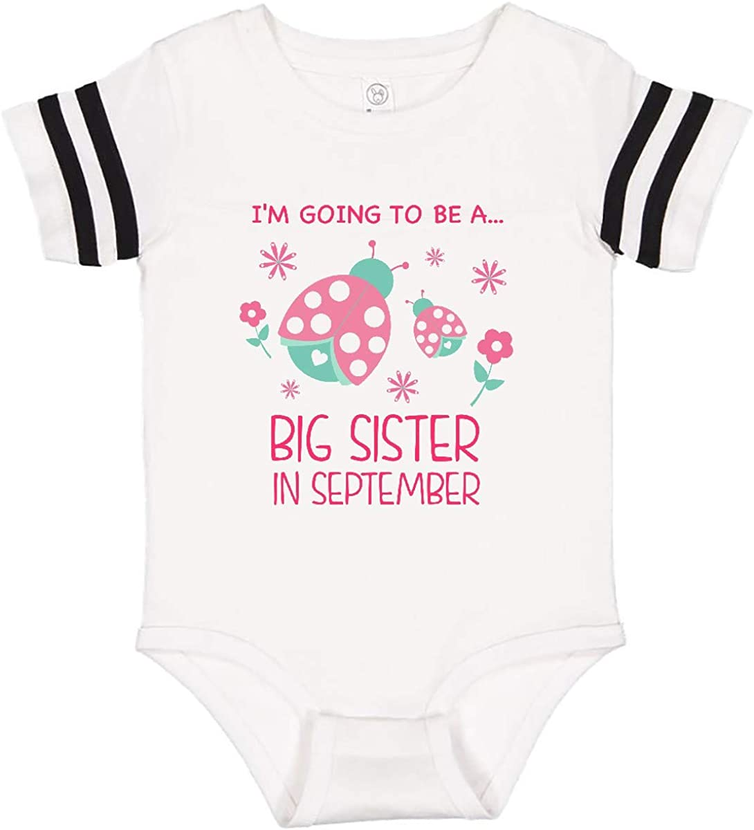 inktastic Im Gonna Be a Sister in September with Ladybugs Infant Creeper