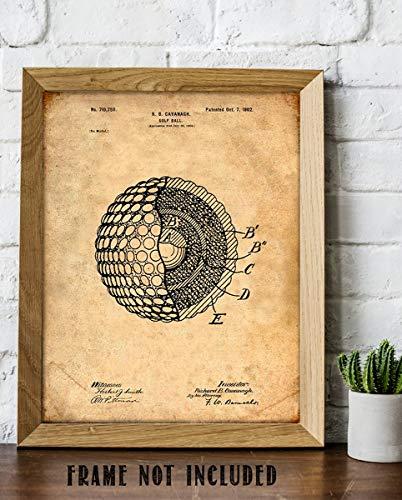 Golf Ball-Patent Print- 8 x10