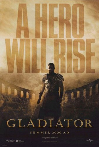 2 Double Sided Poster (GLADIATOR MOVIE POSTER 2 Sided ORIGINAL Advance 27x40 RUSSELL CROWE)