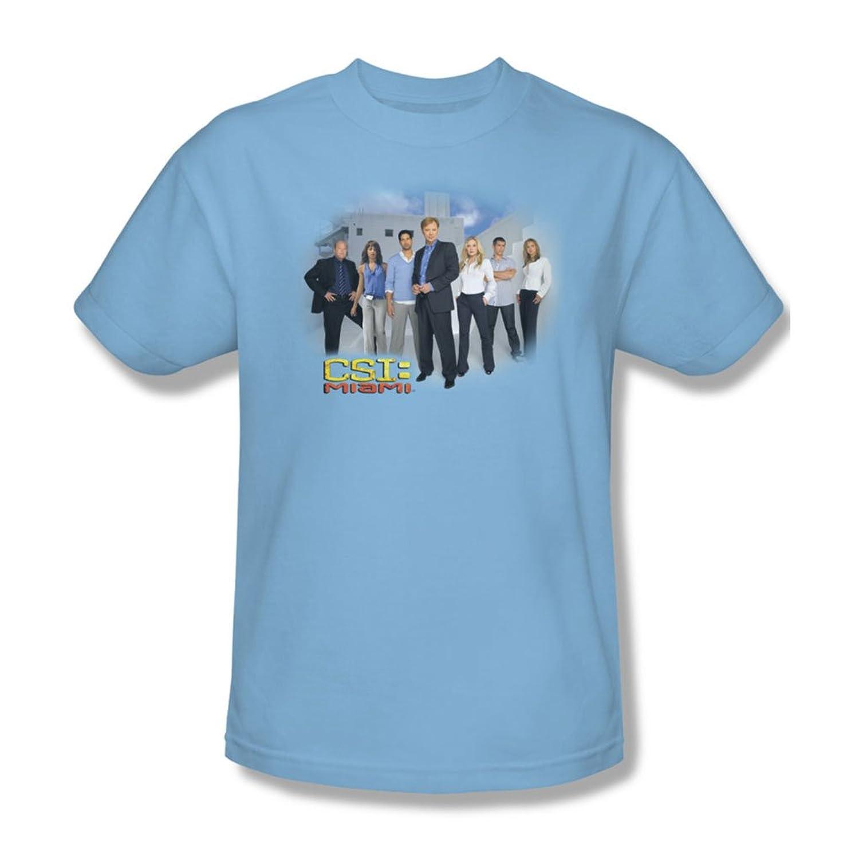 Cbs - Csi / Miami Cast Adult T-Shirt In Light Blue