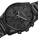 Akribos XXIV Men's AK736BK Ultimate Swiss Multifunction Black Stainless Steel Bracelet Watch
