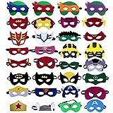 UGA Superhero Masks (32 Packs) - Superheroes Birthday Party Masks ,Children's top Hats