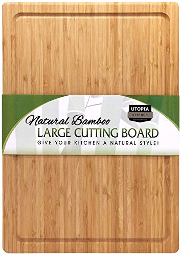Extra Large Bamboo Cutting Board (17 by 12 inch) – Utopia Kitchen