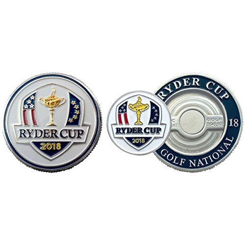 Mondomark 2018 Ryder Cup Golf Ball Marker - Poker Chip Size - Le Golf National