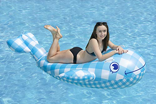 Poolmaster Willy The Whale Swimming Pool Float Rider, Whale ()