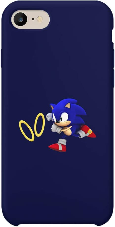 GlamourLab Sonic The Hedgehog Run Chase Rings Speed Race_R3333 Protective Case Cover Hard Plastic Compatible with for iPhone 7 Plus Case Guscio ...