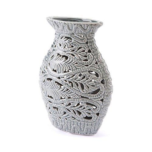 Medium Zuo Leaves Vase Gray