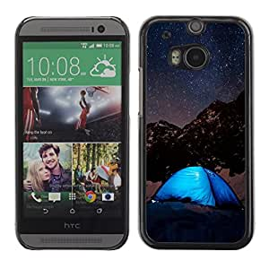 Be Good Phone Accessory // Dura Cáscara cubierta Protectora Caso Carcasa Funda de Protección para HTC One M8 // Night Sky & Stars Mountains