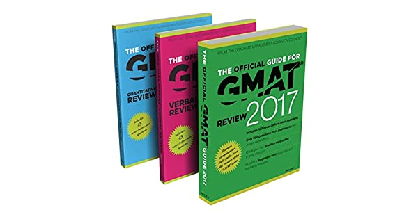 ComThe Official Guide To The GMAT Review 2017 Bundle Question Bank Video Paperback