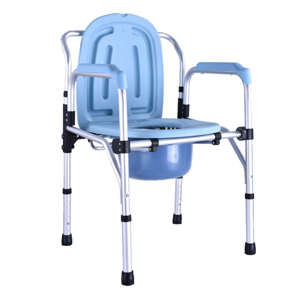 (訳ありセール 格安) ポータブル高齢者アルミニウム合金の高さ調節可能な椅子の椅子のモバイル妊娠中の女性のトイレシート障害者のトイレの椅子滑り止めの手すり頑丈で耐久性のあるバスルームシャワースツールバケット最大150kg B07F71G6YW, インポートショップeウエアハウス:71f6023d --- eastcoastaudiovisual.com