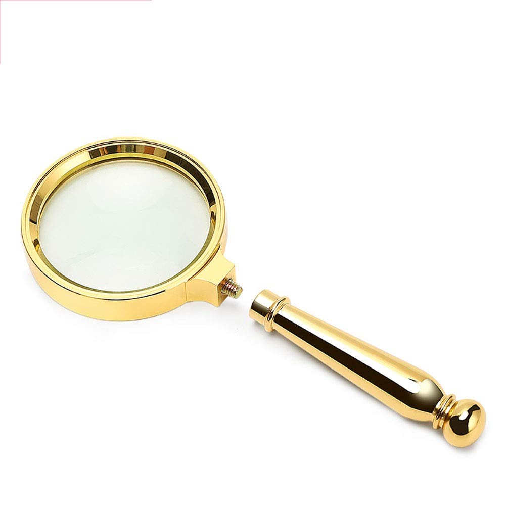 LGLFDJ Magnifying Handheld Magnifier 10x HD, Detachable Portable Lightweight, Old Man Reading Appraisal Repair Office Stamp Map Student Elderly Reading