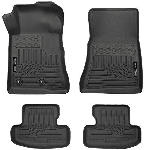 2015-2017 Ford Mustang Weatherbeater Series Front & 2nd Seat Floor Liners (Footwell Coverage) - Black