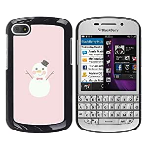 All Phone Most Case / Hard PC Metal piece Shell Slim Cover Protective Case Carcasa Funda Caso de protección para BlackBerry Q10 snowman happy cartoon pink Christmas