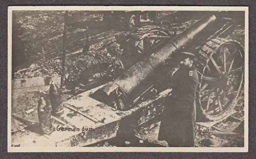 Miniature Officer - German artillery piece & officer miniature World War I photo