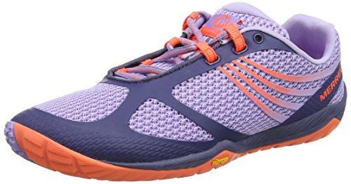 Merrell Women's Pace Glove 3 Trail Running Shoes Red/Light Blue