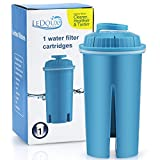Ledoux Waters Replacement Filter for 10 Cup Water Filter Pitcher Advanced Water Filtration System (1, Blue)