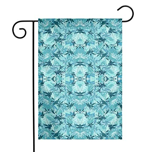 Sparkle Camo (Wozuiaiqizi Sparkle Turquoise Camo Welcome Floral Garden Flag Double-Sided Vivid Color Flowers Yard Flag, Polyester, Yard Flag to Brighten Up Your Home 12