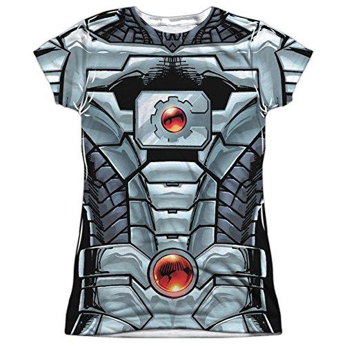 Martian Manhunter New 52 Costume (Juniors: Cyborg- New 52 Costume Tee Juniors (Slim) T-Shirt Size M)