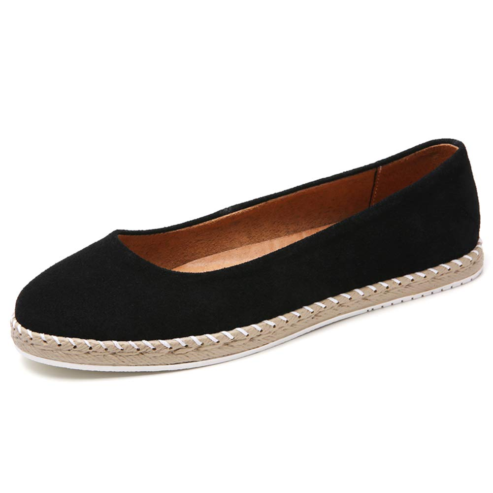 Femmes Flat Mocassins Suede Slip on Ballerines Chaussures Comfy Soins Infirmiers Avslappnad Chaussures de Marche