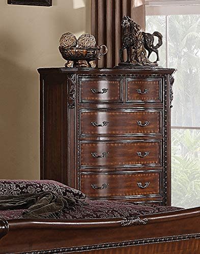 Coaster Home Furnishings 202265 Maddison Six-Drawer Chest, 42 W x 20 D x 54 H, Cappuccino