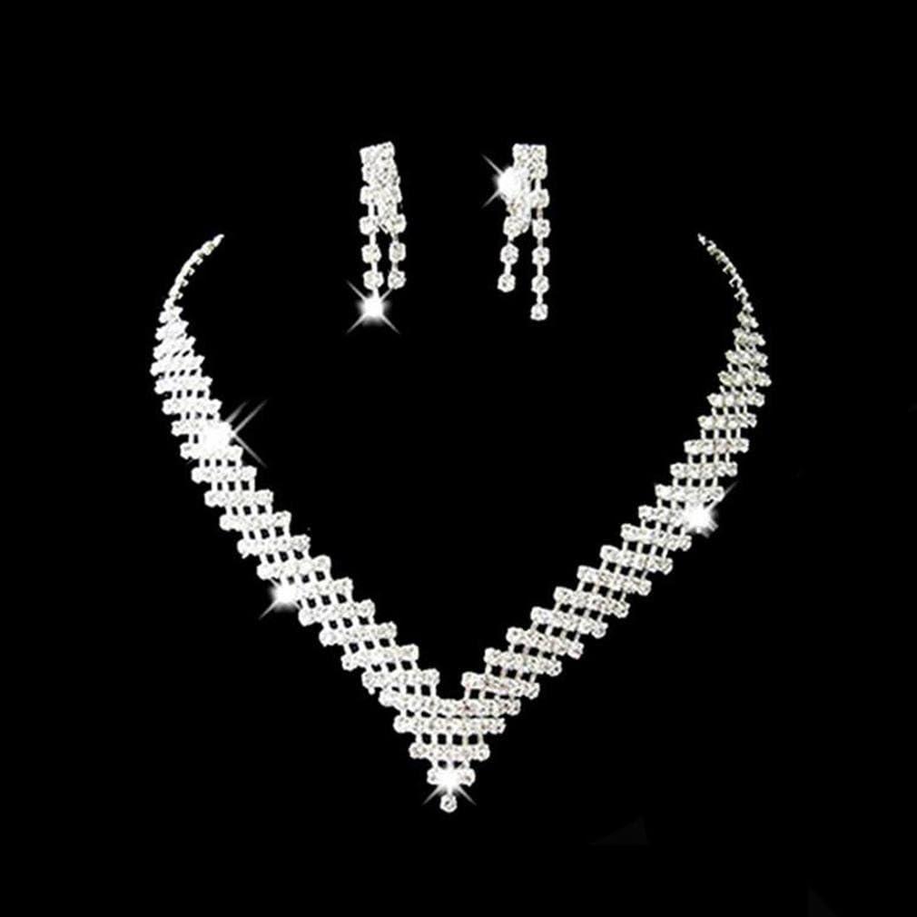 Cadeau Fian/çailles GYJUN Ensemble de bijoux Femme Anniversaire Occasion sp/éciale Parures Alliage Stras Argent Sor/ée Mariage
