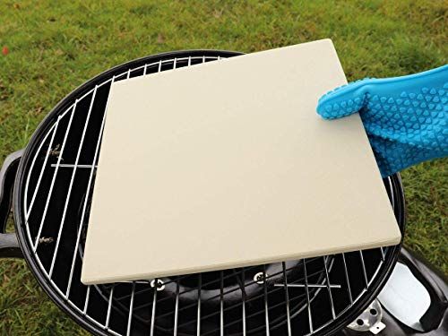 Pizza Stone, G.a HOMEFAVOR Heavy Duty Cordierite Pizza Grilling Stone,Baking Stone, Pizza Pan, Perfect for Oven, BBQ and Grill, Thermal Shock Resistant, Durable and Safe, Rectangular, 15x12 Inch, 7Lbs
