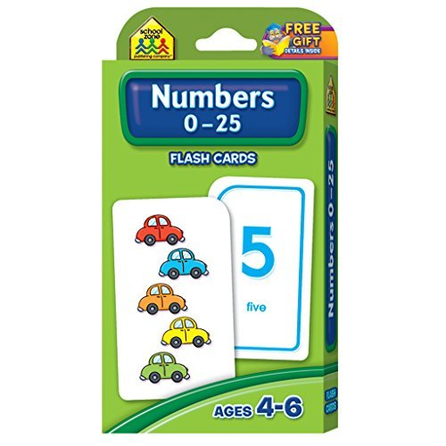 Numbers 0-25 Flash Cards by School Zone Publishing Company Staff (2005-01-01)