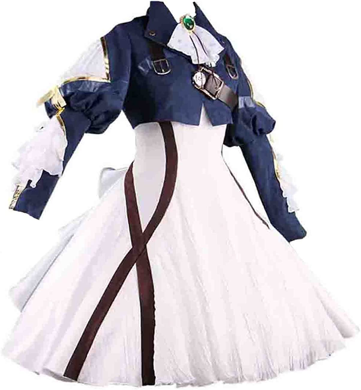 Ainiel Womens Costume Cosplay Anime Uniform Suit Dress Outfit Dark Blue White