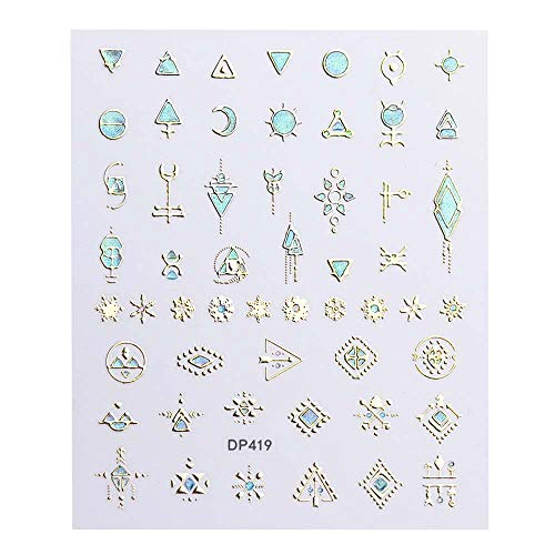 Newkelly 3D Nail Sticker Decal Christmas Series Hot Stamping Applique Cute Women Gifts