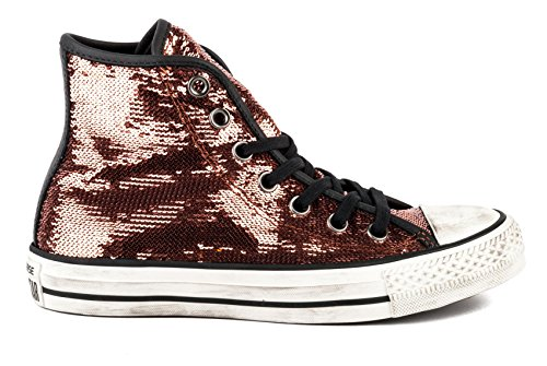 CT ALL STAR HI SEQUINS DISTRESSED COPPER/BLACK/BUFF