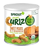 Sprout Organic Baby Food, Sprout Curlz Organic Toddler Snacks, Sweet Potato & Cinnamon, 1.48 Ounce