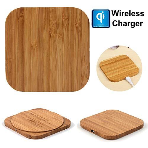❤️Jonerytime❤️Qi Wireless Charger Slim Wood Pad Charging Mat for Samsung Galaxy Note 9