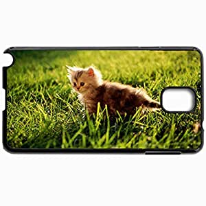 Personalized Protective Hardshell Back Hardcover For Samsung Note 3, Cat Design In Black Case Color