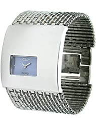 Moog Paris Geometric Womens Watch with Blue Dial, Silver Strap in Stainless Steel - M41114-006