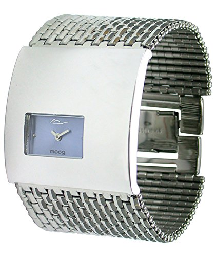 Moog Paris Geometric Women's Watch with Blue Dial, Silver Strap in Stainless Steel - M41114-006