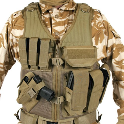BLACKHAWK! Omega Cross Draw/Pistol Mag Vest - Coyote Tan Left