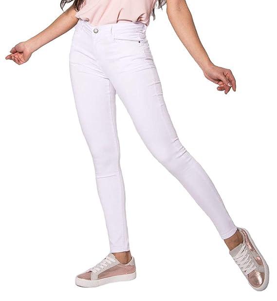 Nina Carter Mujer Vaqueros Slim, Skinny Pantalones Jeans Destroy Rotos en Las Rodillas Talla 34 a 42